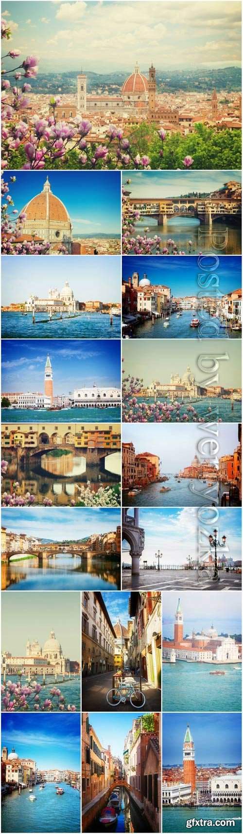 Beautiful landscapes of Italy stock photo