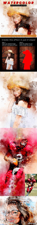 GraphicRiver - Watercolor Photoshop Action 27760667
