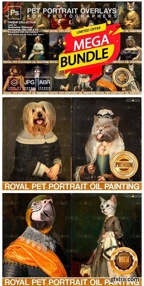 MEGA BUNDLE Royal Pet Portrait Templates 9450948