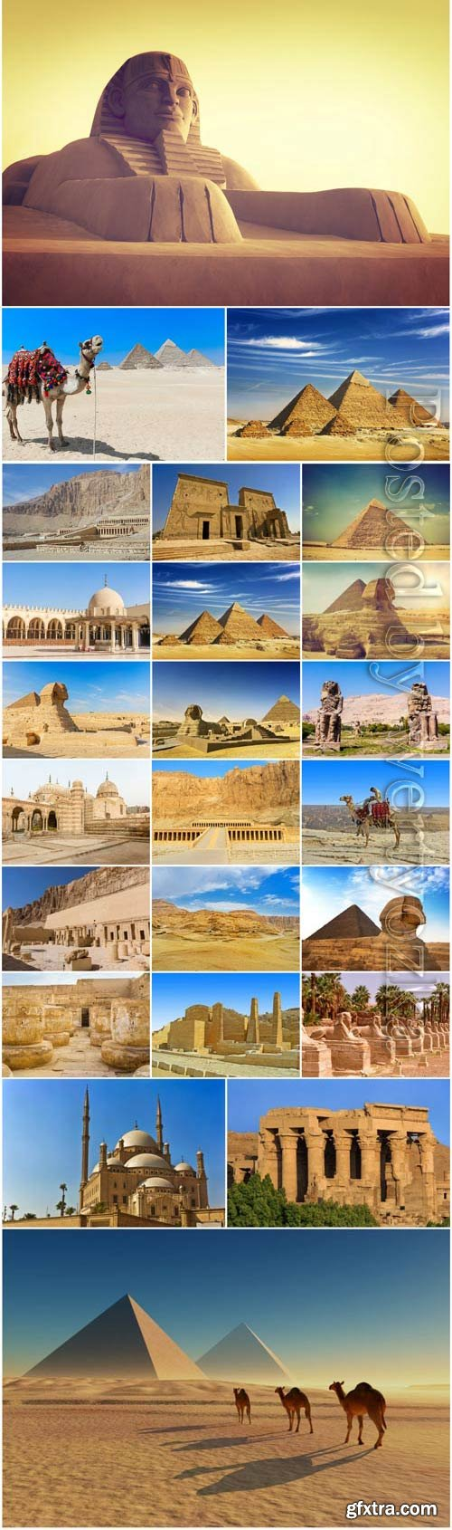 Egypt landmarks stock photo