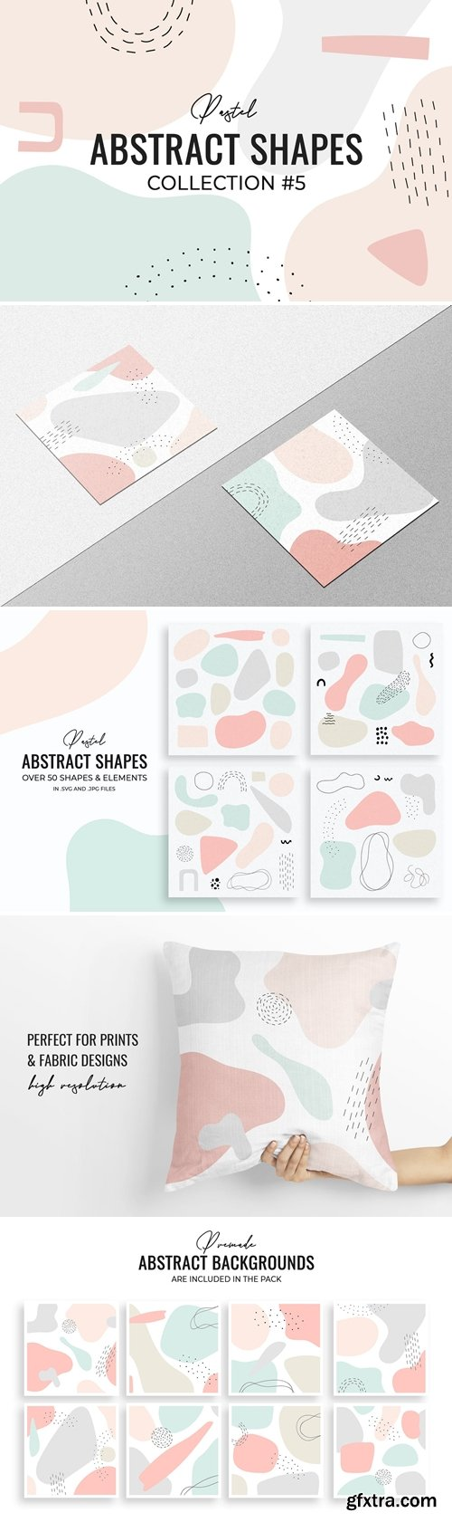 Pastel Abstract Shapes #5