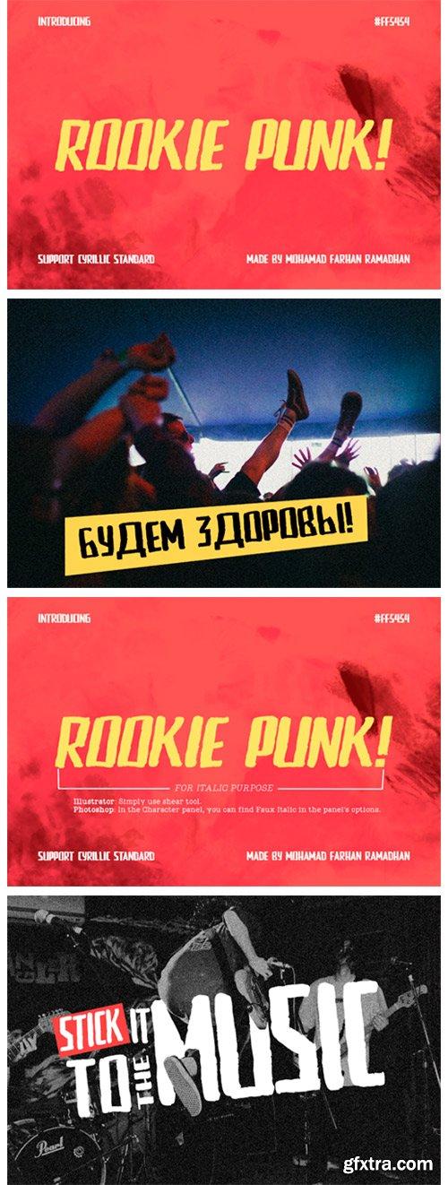 Rookie Punk Font
