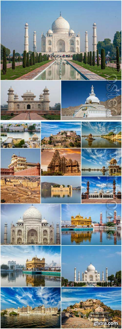 India architecture stock photo