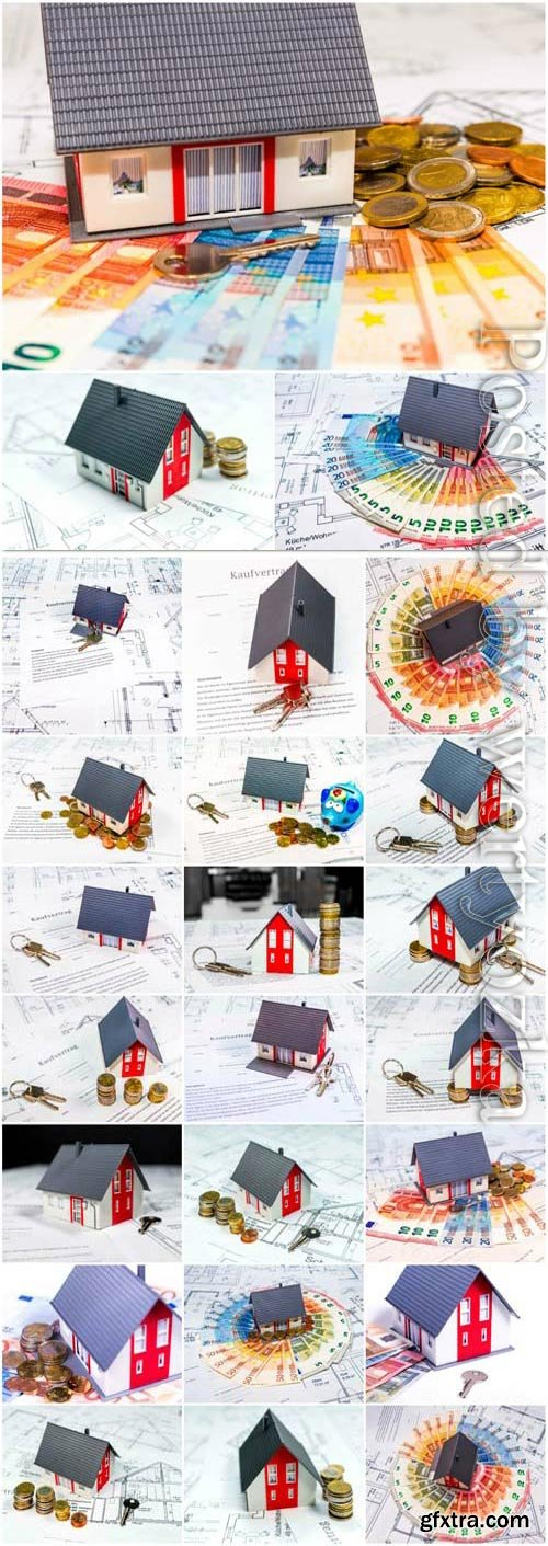 Concept architecture house and buying a house stock photo