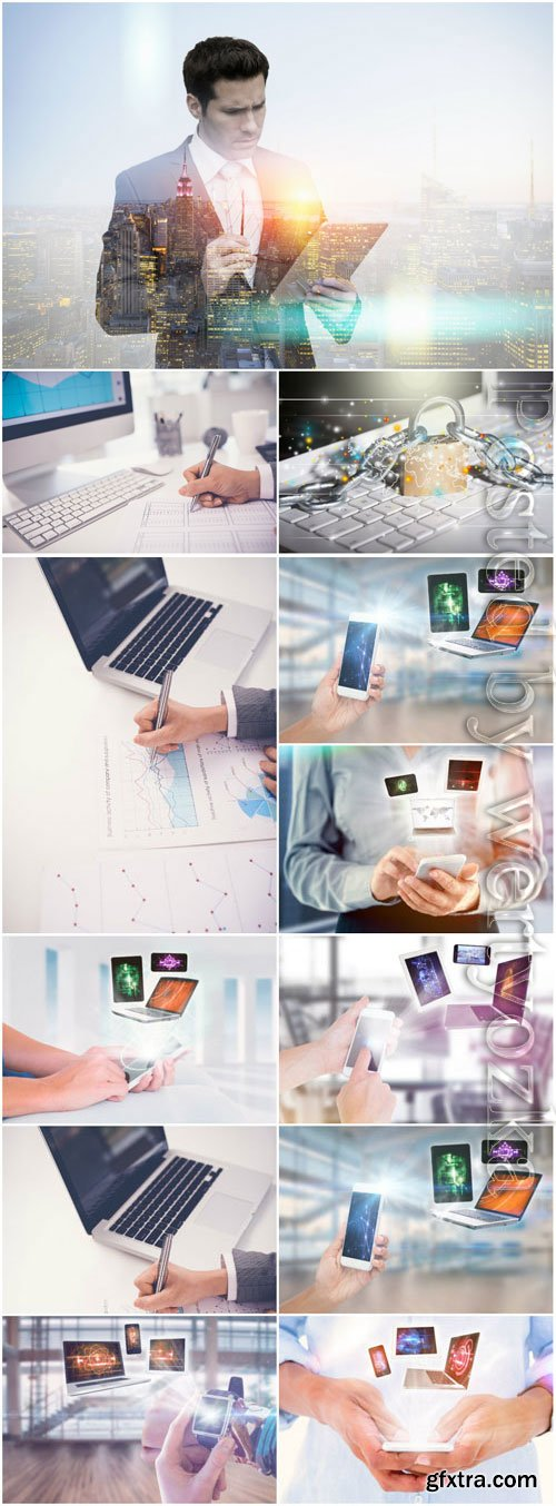 Modern technology stock photo