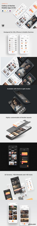 YellowImages - Arnelle - Gallery & Stories App UI Kit - 83663