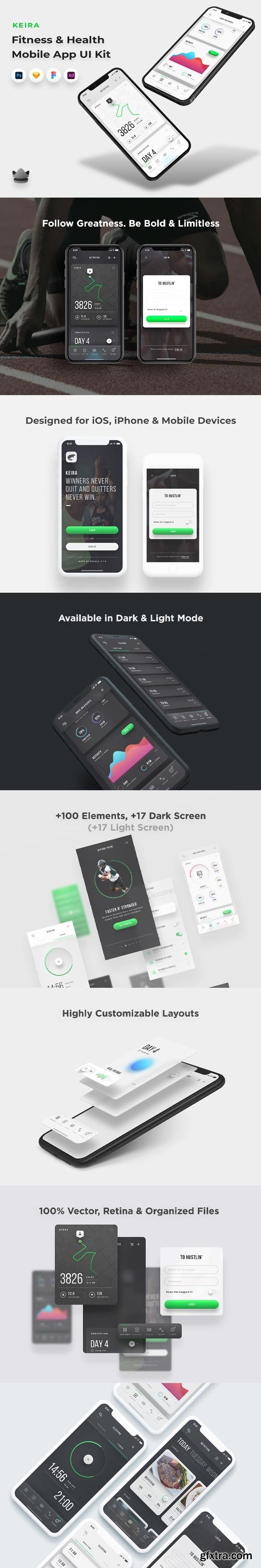 YellowImages - Keira - Fitness & Health App UI Kit - 83603