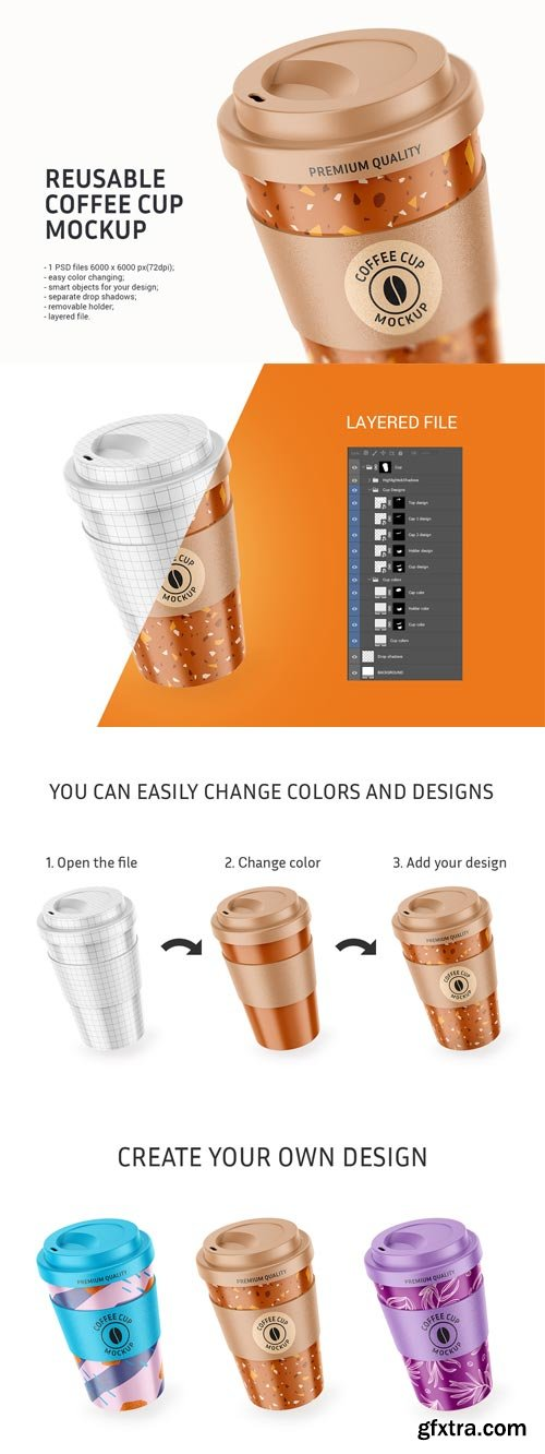 YellowImages - Reusable Coffee Cup Mockup - 83567