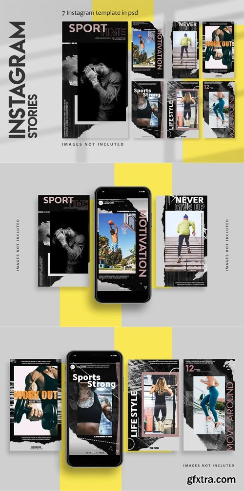 YellowImages - 7 sports instagram stories template - 83596