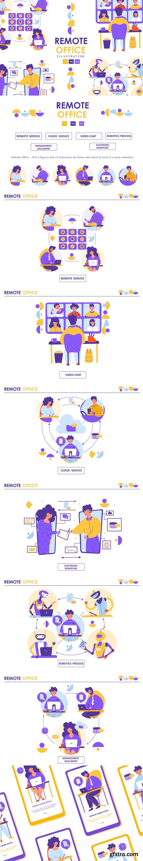 YellowImages - Remote Office - illustration - 83525
