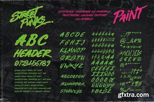 CM - Street Punks - Graffiti Pen and Brush Font 6146555