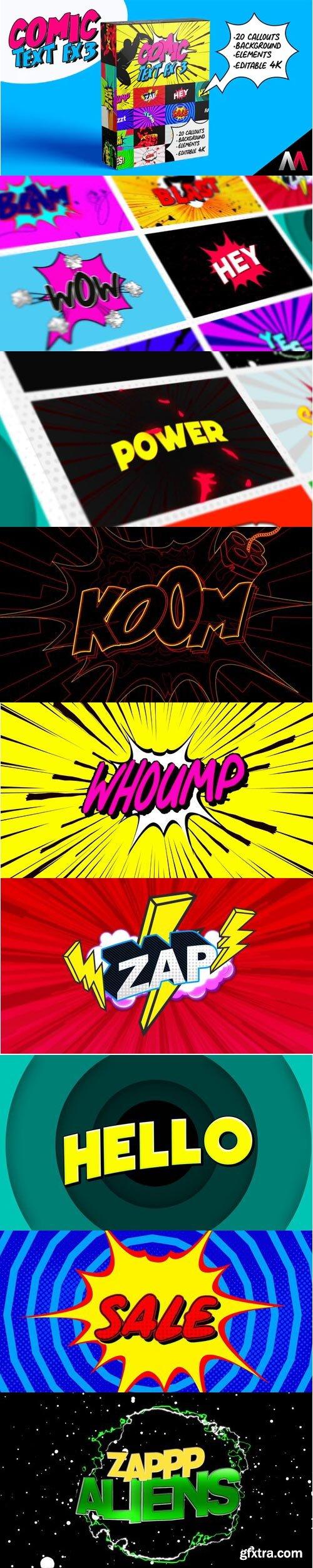Videohive - Comic Text Fx 3 - 32070485