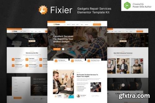 ThemeForest - Fixier v1.0.0 - Gadgets & Electronics Repair Services Elementor Template Kit - 32315111