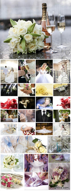 Wedding collage stock photo