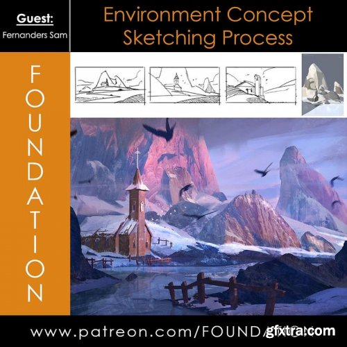 Foundation Patreon - Environment Concept Sketching Process with Fernanders Sam