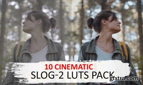 CreativeMarket - 10 Cinematic Slog-2 Luts 5525741