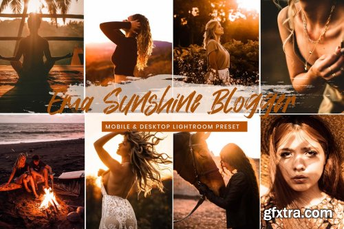 CreativeMarket - 15 Mobile Lightroom Presets Sunshine 6119590