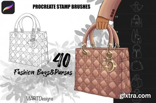 CreativeMarket - Fashion bags & purses stamps Procreate 5915833