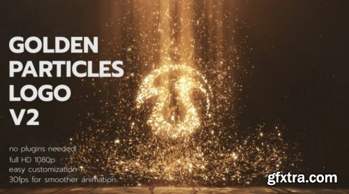 Golden Particles Logo V2 780600