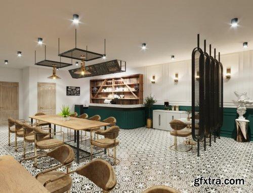 Interior Coffee By Huynh Ngoc Thinh