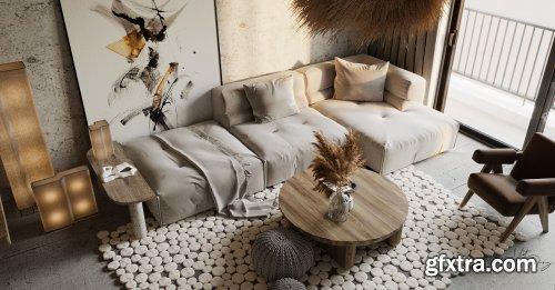 Livingroom Interior Scene By Dung Viet Phi