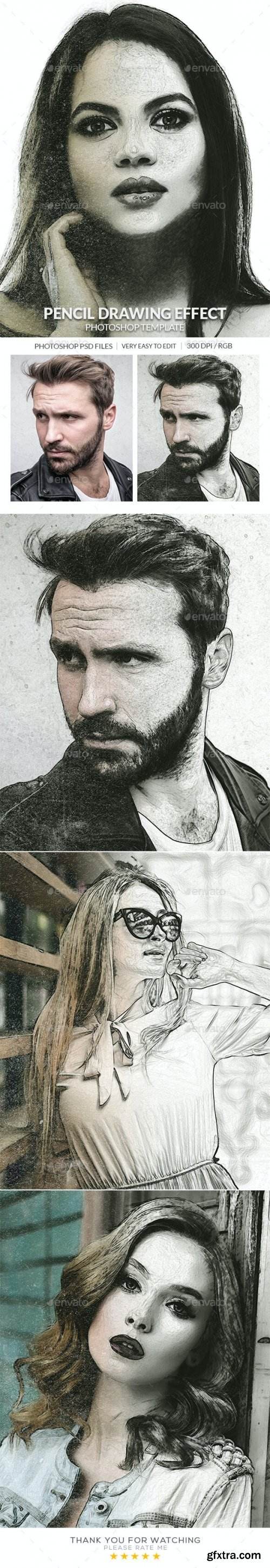GraphicRiver - Pencil Drawing Photo Effect 30439345