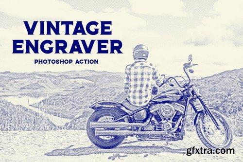 CreativeMarket - Vintage Engraver - Photoshop Action 6107789
