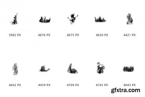 CreativeMarket - Premium Fire Brushes For Photoshop 6037339