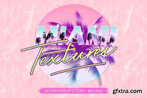 CreativeMarket - Miami Print Aesthetic PS Styles 6116756