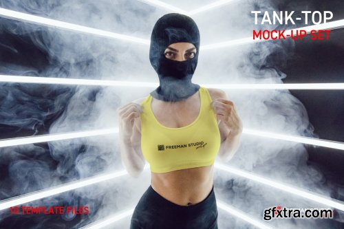 CreativeMarket - Tank-Top Mock-Up Set 6111318