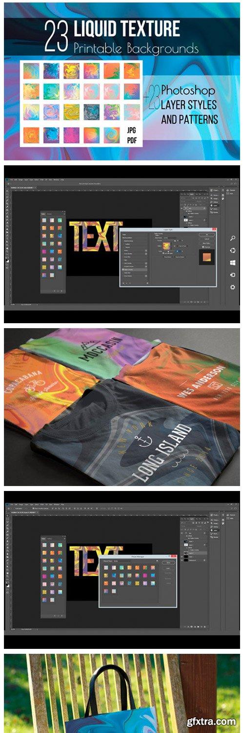 Liquid Texture & Photoshop Layer Styles 10728733