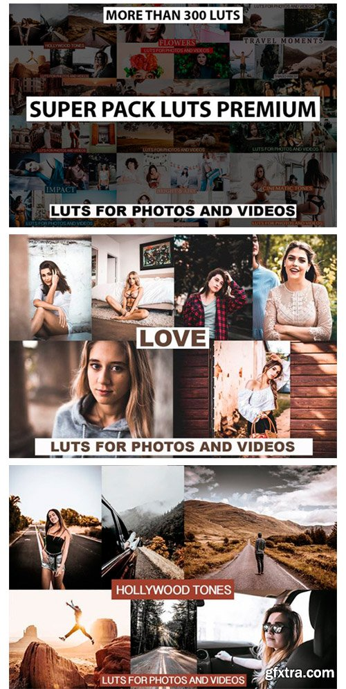 MORE THAN 300 LUTs for Photos and Videos 10660090