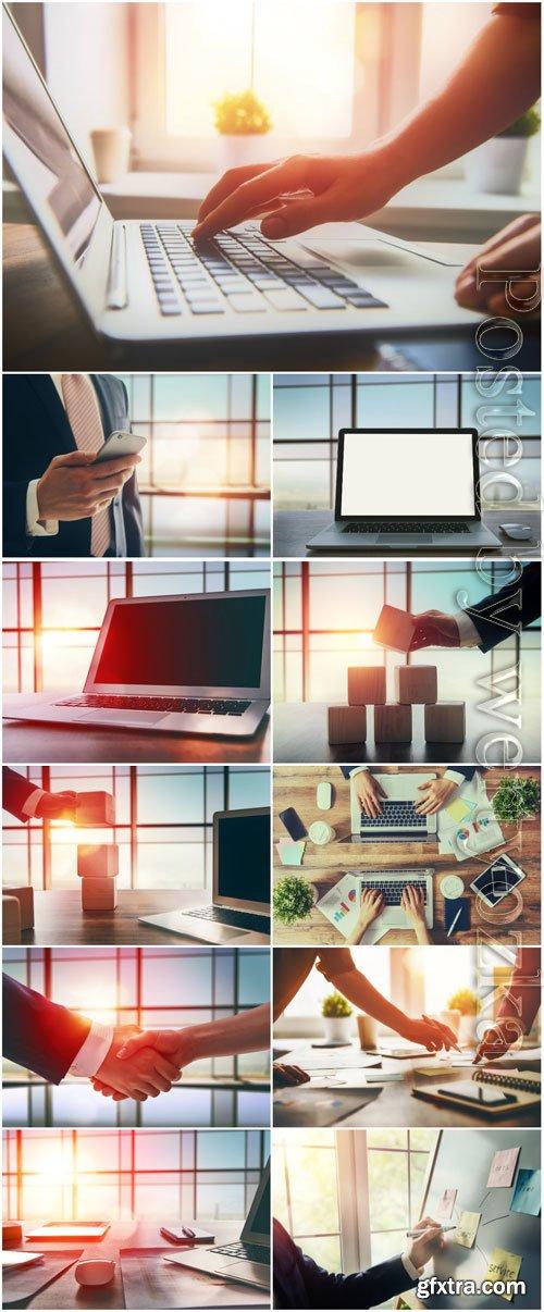 Business concept, modern technology stock photo