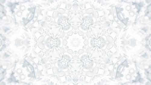 Videohive - White Kaleidoscopic Abstract Background - 32471449 - 32471449