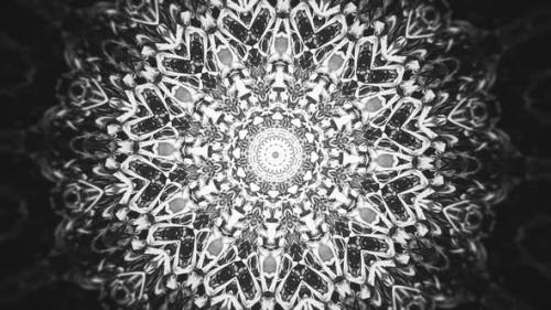 Videohive - Black and White Kaleidoscopic Abstract Background - 32471452 - 32471452