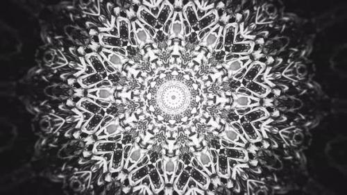 Videohive - Black and White Kaleidoscopic Abstract Background - 32471453 - 32471453