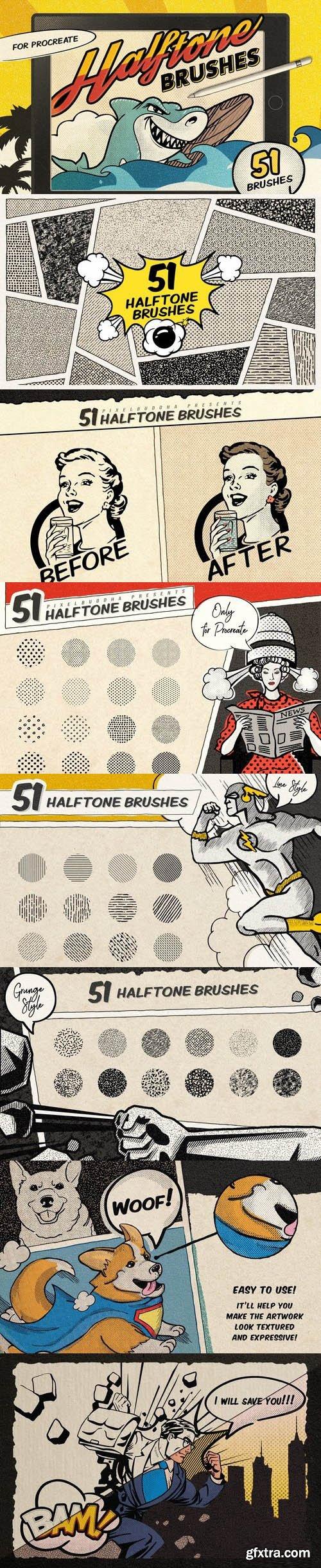 CM - Vintage Comic Procreate Brushes 3402568
