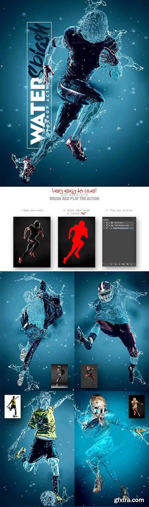 GraphicRiver - Water Splash Photoshop Action 31781792