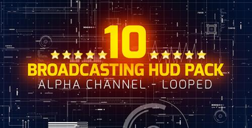 Videohive - Broadcasting HUD Pack - 19551561 - 19551561