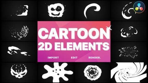 Videohive - 2D Cartoon Elements | DaVinci Resolve - 32543583 - 32543583