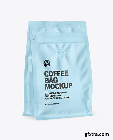 Matte Coffee Bag Mockup 84835