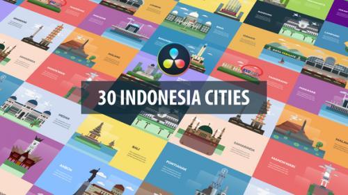Videohive - Indonesia Cities Animation | DaVinci Resolve - 32582786 - 32582786