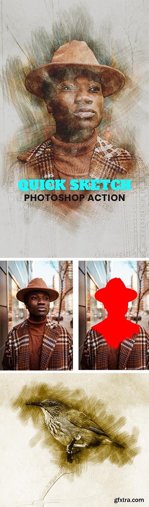 GraphicRiver - Quick Sketch Photoshop Action 31762904