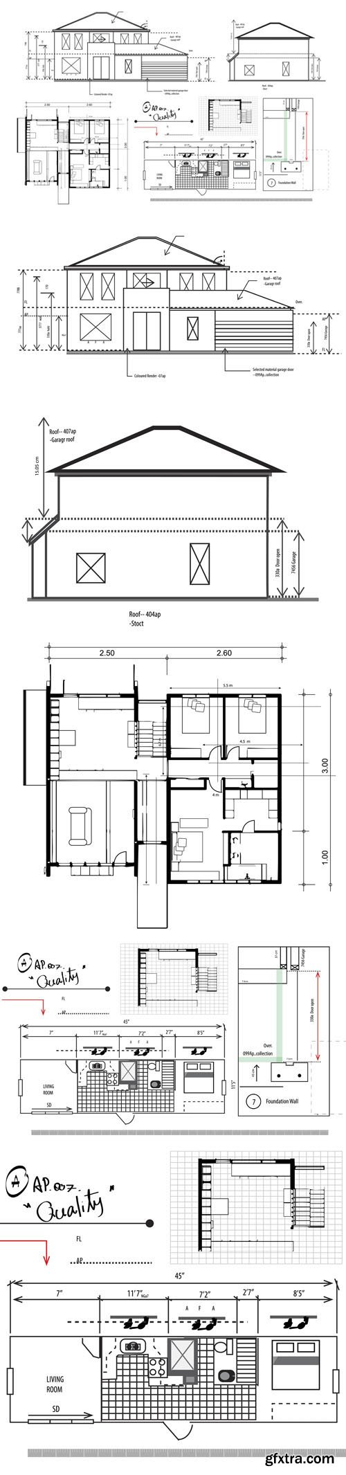 House Planning Illustration - Vector Template