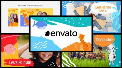 Videohive - Cartoon Kids Slideshow || DaVinci Resolve - 32583234 - 32583234