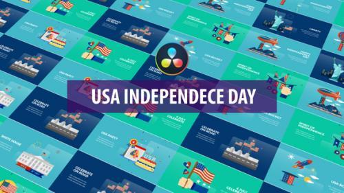 Videohive - USA Independence Day Animation | DaVinci Resolve - 32600925 - 32600925
