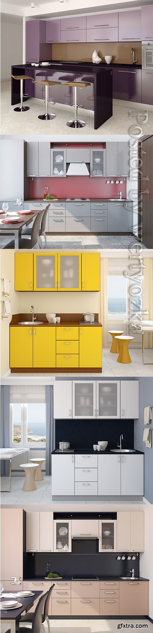 Stylish kitchen interior stock photo