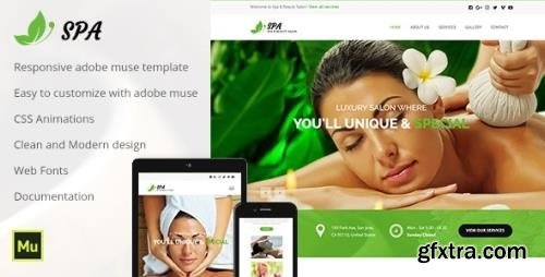 ThemeForest - Spa and Beauty v1.0 - Adobe Muse Template (Update: 7 August 19) - 20198017