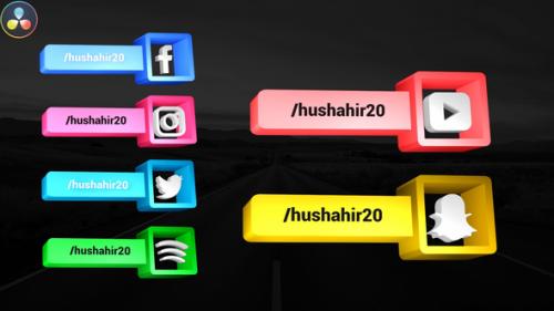 Videohive - Social Media 3D Lowerthirds - 32606202 - 32606202