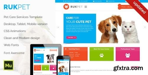 ThemeForest - Rukpet v1.0 - Pet Care Services Template (Update: 24 August 15) - 12166310